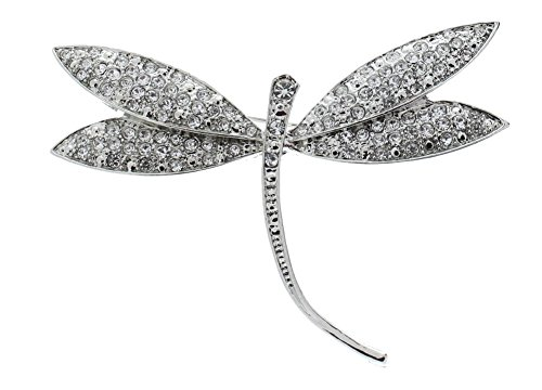 ShopForAllYou Clothes brooches Dragonfly with Clear Stones Rhinestone Pin Brooch Broach Brooch -