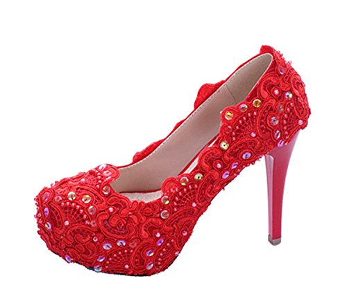 Color Miyoopark 2 36 Rojo Talla 3 Mujer Plataforma UqqFxfZ