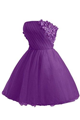 Kleider Ballkleider Champagne Fanciest Abendkleider Brautjungferkleider Damen Homecoming 2016 Purple Kurz ww0ITf