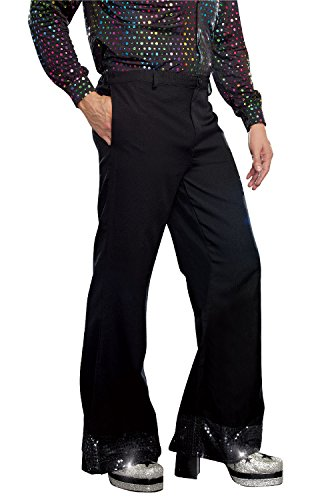 Disco Costumes Male (Dreamgirl Men's Disco Pant, Black, Medium)