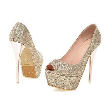 LvYuan Tacón Stiletto-Zapatos del club-Sandalias-Boda Vestido Fiesta y Noche-Purpurina Materiales Personalizados-Rosa Rojo Plata Oro Red