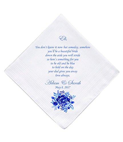 Flower Girl Personalised Handkerchief Wedding Gift Keepsake Hankie (Flower Girl Handkerchief)