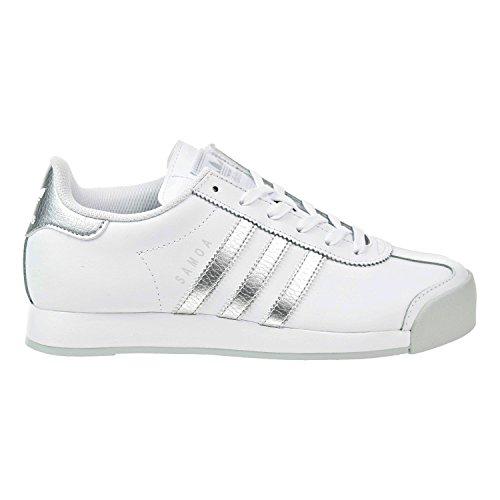 Adidas Originals Women's Samoa Sneakers White/Silver/Light Grey (Large Image)
