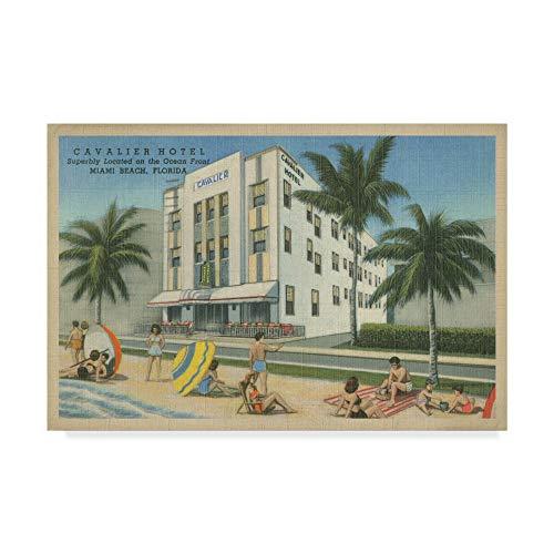 (Trademark Fine Art Miami Beach Ii by Unknown, 12x19-Inch)