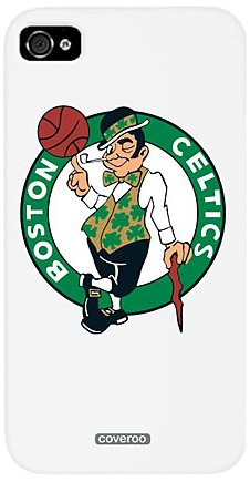 Coveroo 401-480-WH-HC Thinshield Slim Case for iPhone 4/4S - Boston Celtics with Leprechaun - 1 Pack - Retail Packaging - White