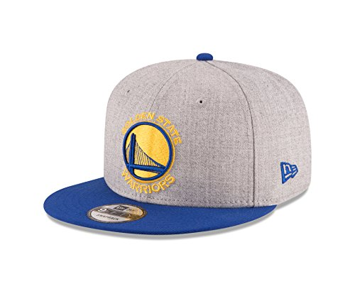 (NBA Golden State Warriors Men's 9Fifty 2Tone Heather Snapback Cap, One Size, Heather Gray)