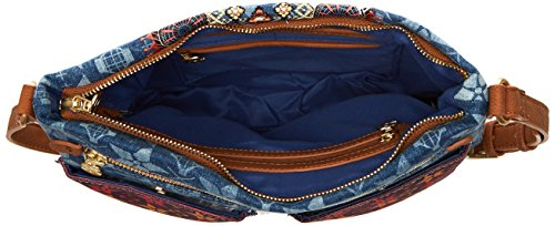 Sac Desigual Mytics Bleu Femme Jeans Baqueira Bleu drr7Xxq5