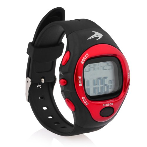 Heart Rate Monitor Watch (Red) Best for Men & Women - Running, Jogging, Walking, Gym Exercise, Iron Man, Cycling, Sports - Digital Timer Stop Watch, Alarm Multi Function CompressionZ