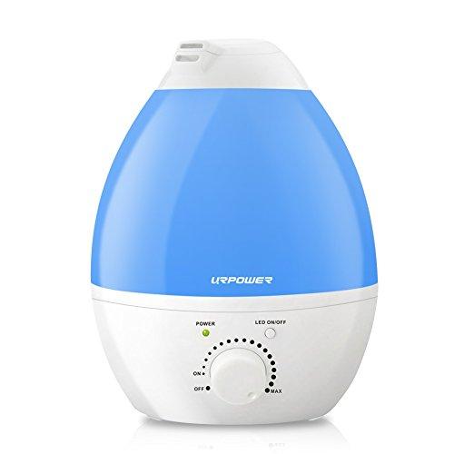 URPOWER Ultrasonic Cool Mist Humidifier, 2.4L Whisper-quiet