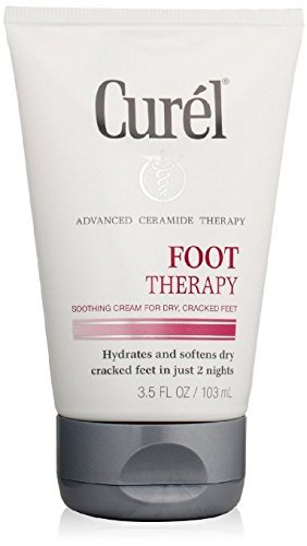 Curel Targeted Therapy Deep-Penetrating Foot Cream, 3.5-Ounce Tube - 3 TUBES PER PACK