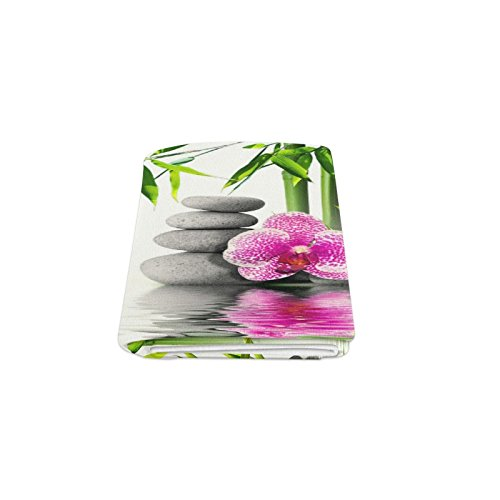 Custom Spa Stones Zen Flower Green Bamboo Bed/Sofa Soft Throw Fleece Blanket 50''x60'' Design Fashion Warm Cozy Soft Sofa Bed Throws Blankets