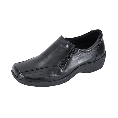 24 Hour Comfort  Vera (1017) Women Wide Width Comfort Slip-On Shoes Black 10.5 by 24 Hour Comfort