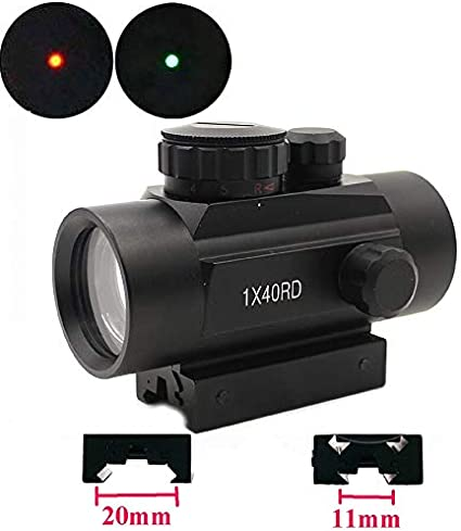 Hunting Tactical 11//20mm Holographic 1x22x33 Reflex Red Dot Sight Scope Stock In