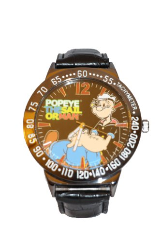 popeye-the-sailor-man-mens-leather-band-watch