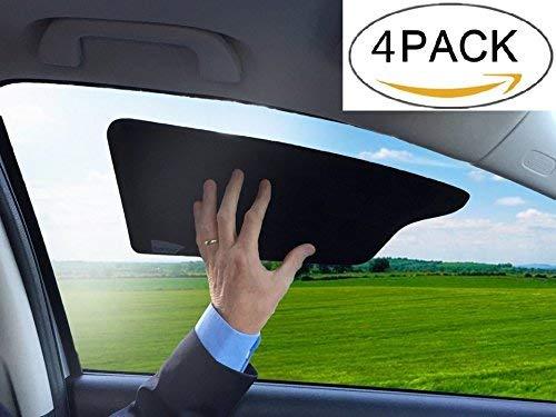 (TuckVisor Windshield Sunshade Car Sun Window Shade Visor Shades Sunshade Visors Extender 4 Pack)