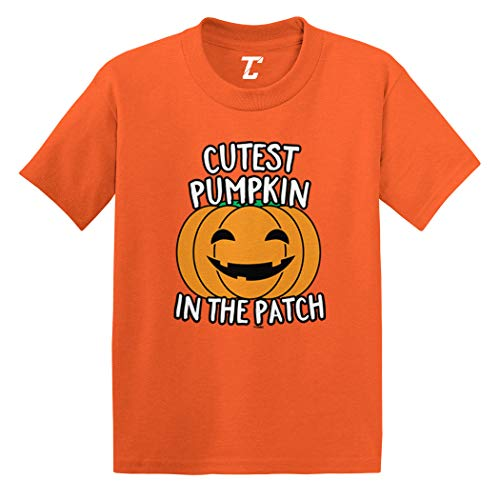 Cutest Pumpkin in The Patch - Halloween Infant/Toddler Cotton Jersey T-Shirt (Orange, 24 Months) ()