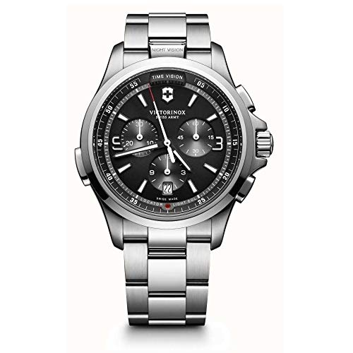 Victorinox Night Vision Black Dial Stainless Steel Men's Watch ()