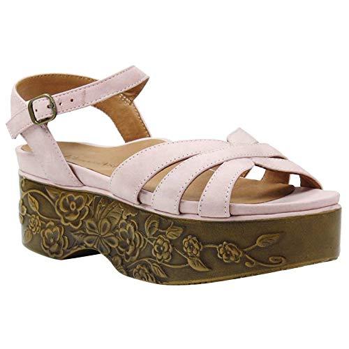 (L'Amour des Pieds Women's Gillon Platform Sandal (Pink, 9 M US) )