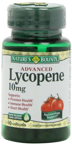Nature's Bounty Lycopene 10mg, 60 Softgels (Pack of 2)