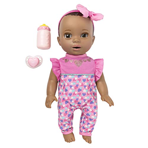 Luvabella 6053413 Newborn, Dark Brown Hair, Interactive Baby Doll with Real Expressions and Movement, Multicolour