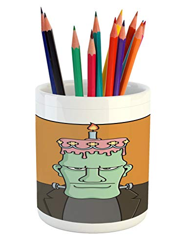 Lunarable Humorous Pencil Pen Holder, Funny Cartoon with