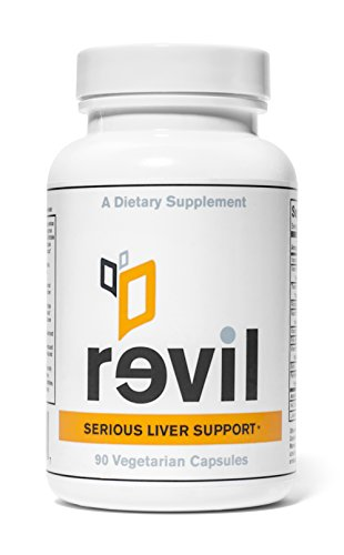 Serious Liver Support & Liver Detox (With Organic Milk Thistle, Organic Reishi Mushroom, and NAC) by REVIL SERIOUS LIVER SUPPORT