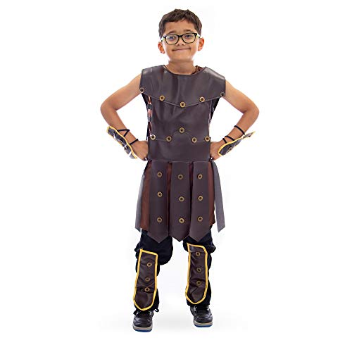 Mighty Warrior Boy's Halloween Costume - Roman Gladiator, Greek Spartan Hero (X-Large) ()