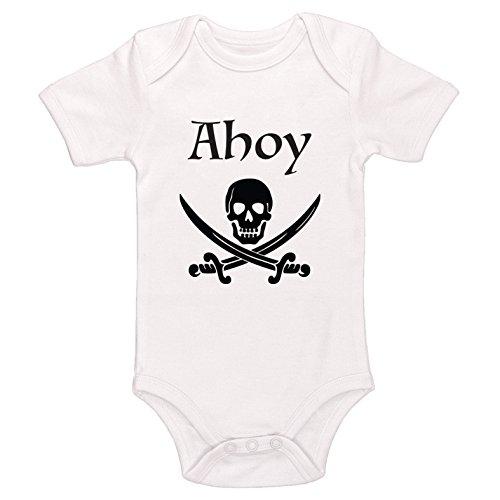 Starlight Baby Ahoy Pirate Bodysuit (White, 3-6 Months)