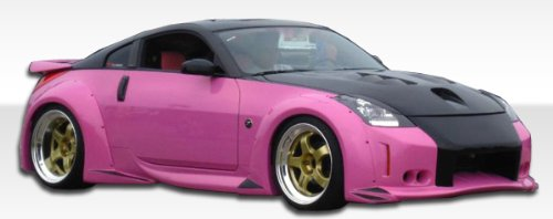 2003-2008 Nissan 350z Duraflex Vader 3 Widebody Kit - Includes Vader 3 Widebody Front Bumper (102263), Vader 3 Widebody Rear Bumper (102265), Vader 3 Widebody Sideskirts (102264), Vader 3 Widebody Front Fenders (102266), and Vader 3 Widebody Rear Fender Flares (102267). - Duraflex Body Kits 350z Body Kits
