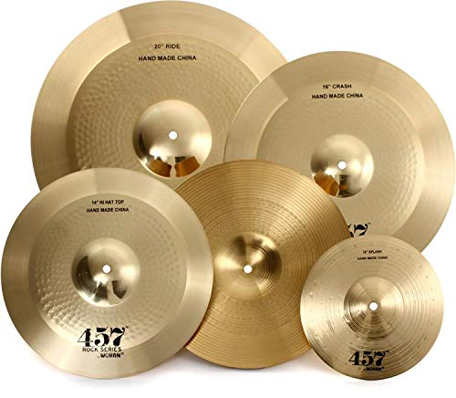 Wuhan 457 Rock 3-Piece Cymbal Pack with Free 10 Inches Splash by Wuhan