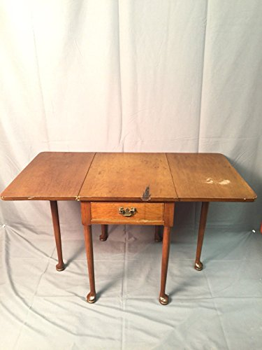 Biggs Mahogany Queen Anne Drop Leaf Side Table Vintage 75th Anniversary USA (Mahogany Reproduction Furniture)