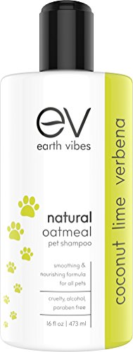 Earth Vibes Natural Oatmeal Pet Allergy Shampoo And Conditio