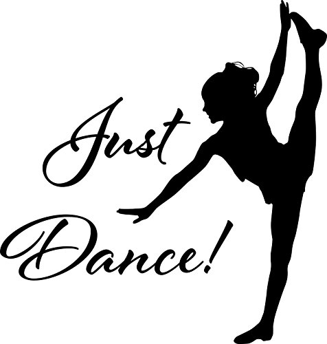 HUANYI Ballet Dancer Just Dance! vinyl wall sticker ballet breakdance salsa modern dance sport