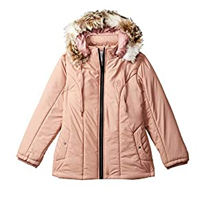 Cazibe Girl's Quilted Regular fit Jacket (1186BT_Peach_26)
