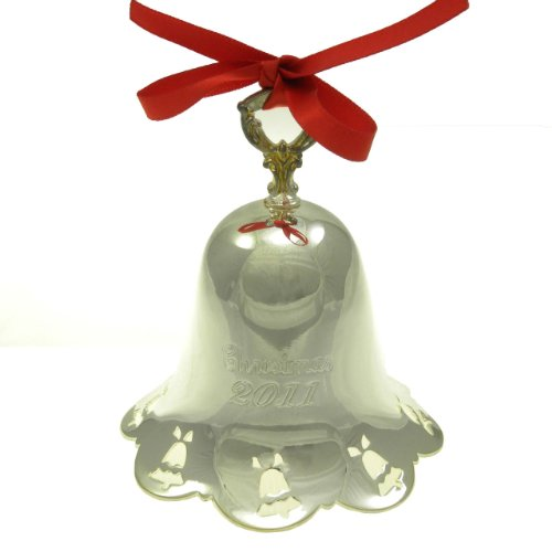 2011 Silver-Towle Silversmith Plated Pierced Bell 32nd Edition 1980-2011 (Pierced Bell Ornament)