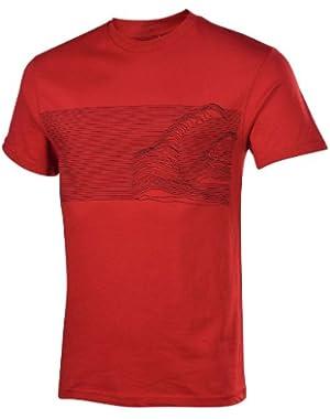 Men's Half Mast Graphic T-Shirt-Red