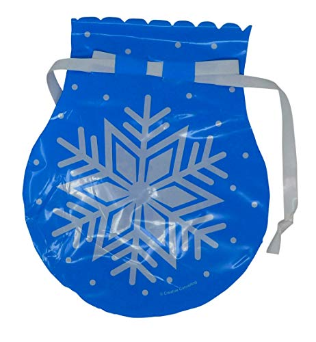 Snowflake Cello Bag with Drawstring (Pack of 30) Christmas Party Favors, Goody Bags, Treat Bags, Return Gift ()