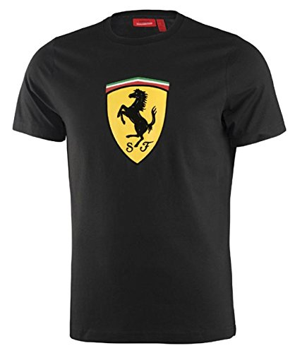 Ferrari Black Classic Shield Tee Shirt  Lrg