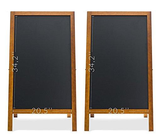 2 Set A-Frame Chalkboard - Magnetic Porcelain Steel Board - Durable Blackboard - Indoor & Outdoor Use - Sidewalk sign for Bars, Cafés, Events & Weddings by Jade Active
