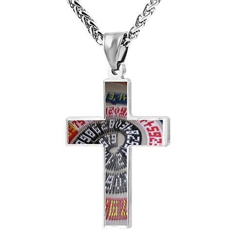 Patriotic Cross Happy Pi Day Religious Lord's Prayer Jewelry Pendant -