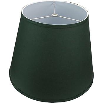 Lamp Shade 11x17x13 Hunter Green Linen Fabric Amazon Com