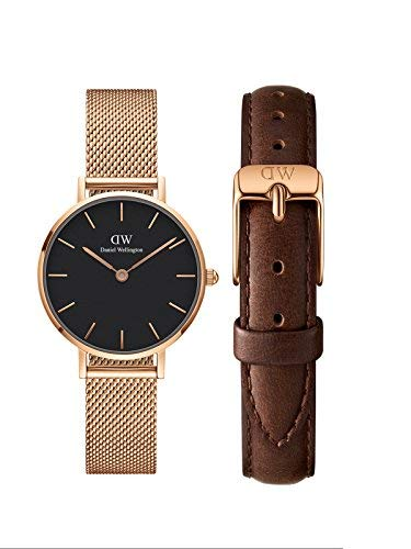 d0cb855f542f Buy Daniel Wellington Classic Petite Melrose Combo of 28mm and12mm Bristol  Strap Women s Watch (DW00500039) Online at Low Prices in India - Amazon.in
