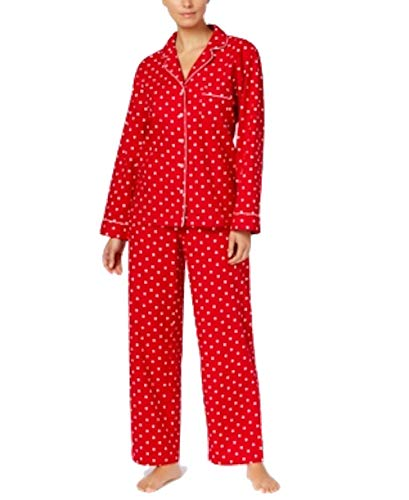 Charter Club Printed Cotton Flannel Pajama Set Women's (L, Candy Red Dot) from Charter Club