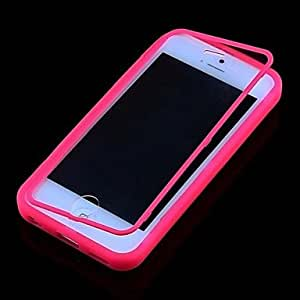 QYF iPhone 5C compatible Solid Color/Crystal Surface Full Body Cases , Rose