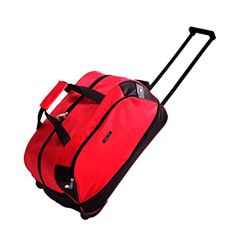 Travel Rolling Duffel,SIYUAN Waterproof Foldable Duffle Suitcase Rolling for Trip Travelling Red - Luggage Waterproof Rolling