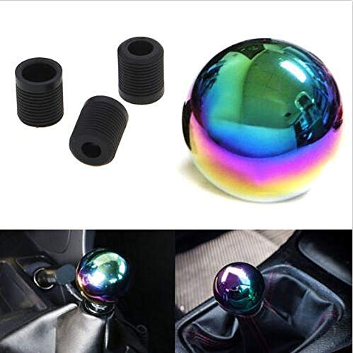 ICBEAMER New Drift Shape Bar Neo Chrome Ball Manual Stick Shift Drive Vehicle Shift Knob [Pack of 1 pc] ()