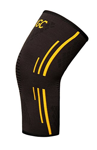 UGC Compression Knee Sleeve – Best Knee Brace for Meniscus Tear, Arthritis, Quick Recovery, etc. – Ideal for Running, CrossFit, Basketball and other Sports – Single Wrap … (Large)