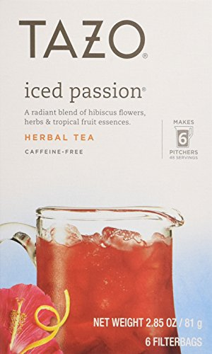 Tazo Iced Tea Passion 6 Bags, 2.85 oz (Case of 4) (Boston Hours Market Flower)