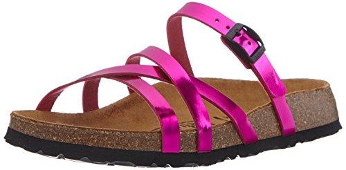 Betula Stripes Cross, Women's Open Toe Sandals Pink (Pink)