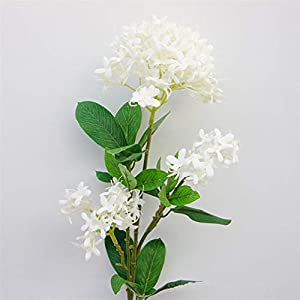 DEBRICKS 3 Heads Artificial Lilac Flowers Simulation Cherry Bouquet Fake Silk Flower Wedding Home Party Decor Floral Arrangement(3 pcs) 36